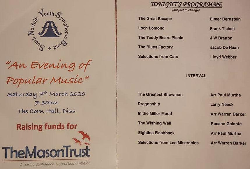 SNYSB Concert Programme