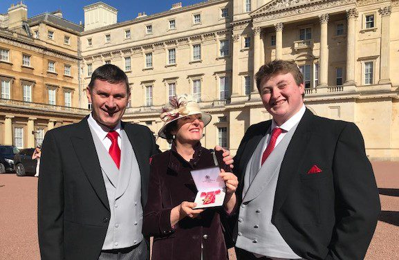 Yvonne with OBE