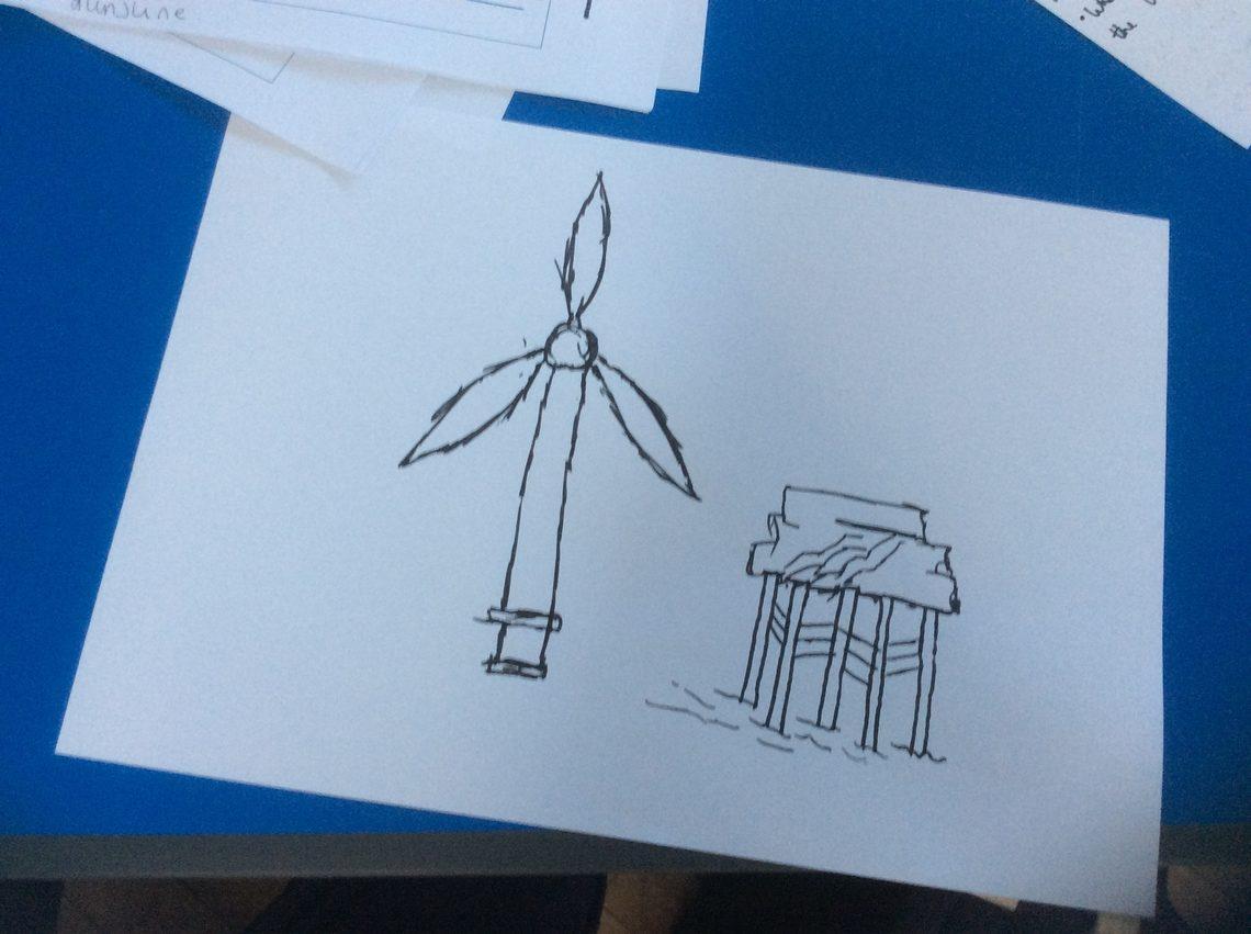 Turbine and substation